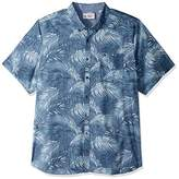 Original Penguin Men's Big and Tall Ss Fern Printed Poplin Woven-Heritage Fit