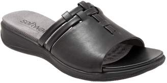 SoftWalk Low-Wedge Leather Sandals - Tahoma