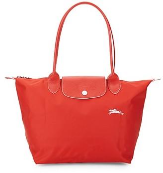 Longchamp Le Pliage Club Leather-Trim Tote