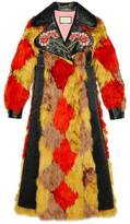Gucci Alpaca coat with diamond intarsia