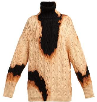 Balenciaga Oversized Acid Stained Cotton Sweater - Womens - Black Multi