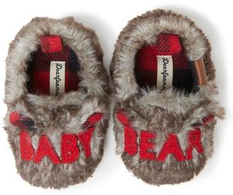 """Dearfoams Baby Baby Bear"""" Faux Fur Closed Back Slippers"""