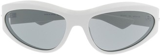 Bottega Veneta Wraparound Tinted Sunglasses