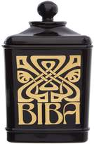 Biba Black glass cotton jar