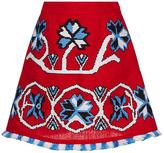 March11 Red Aliona Mini Skirt