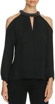 Kobi Halperin Valarie Embellished Cold Shoulder Silk Blouse - 100% Bloomingdale's Exclusive