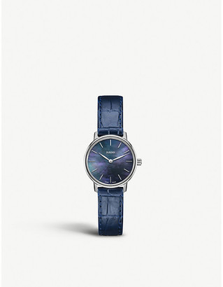 Rado R22897915 Coupole Classic stainless steel and leather watch