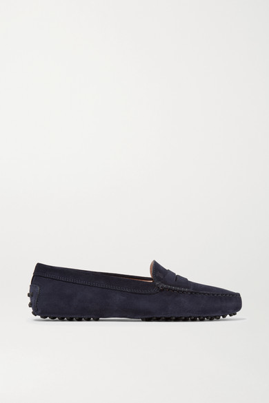 Tod's Gommino Suede Loafers - Navy