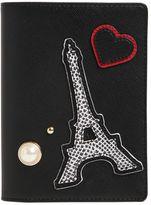 Karl Lagerfeld K/Paris Saffiano Passport Holder