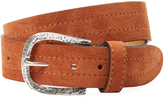 Berge Men's Distressed Matte Buckle Leather Belt