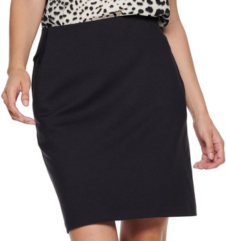 Apt. 9 Women's Tummy Control Ponte Pencil Skirt