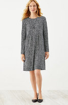 J. Jill Wearever Pleated Empire-Waist Print Dress
