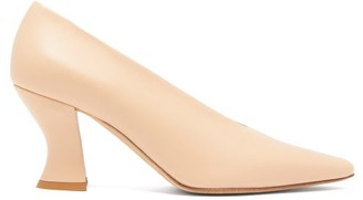 Bottega Veneta Almond Curved-heel Leather Pumps - Nude