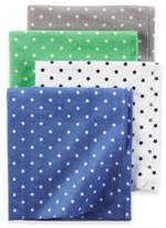Carter's Cotton 4-Pack Boys Blankets in Blue Green Grey Stars