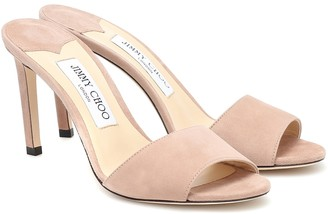 Jimmy Choo Stacey 85 suede sandals