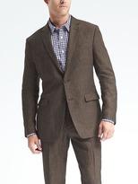 Banana Republic Standard Solid Linen Suit Jacket