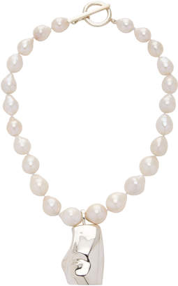 Agmes Sappho Sterling Silver And Pearl Necklace