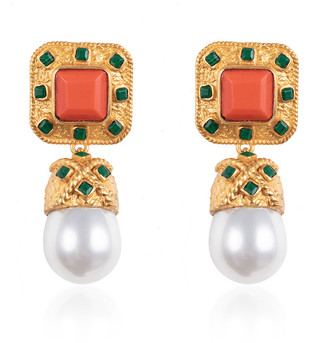 VALERE Poseidon Gold-Plated Multi-Stone Earrings