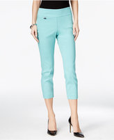 Alfani Petite Tummy-Control Pull-On Capri Pants, Only at Macy's