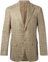 Canali checked blazer - men - Wool/Silk/Linen/Flax - 48