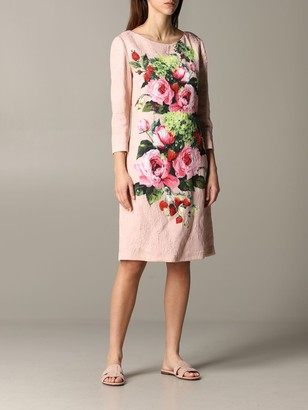 Blumarine Dress Dress With Rose Print