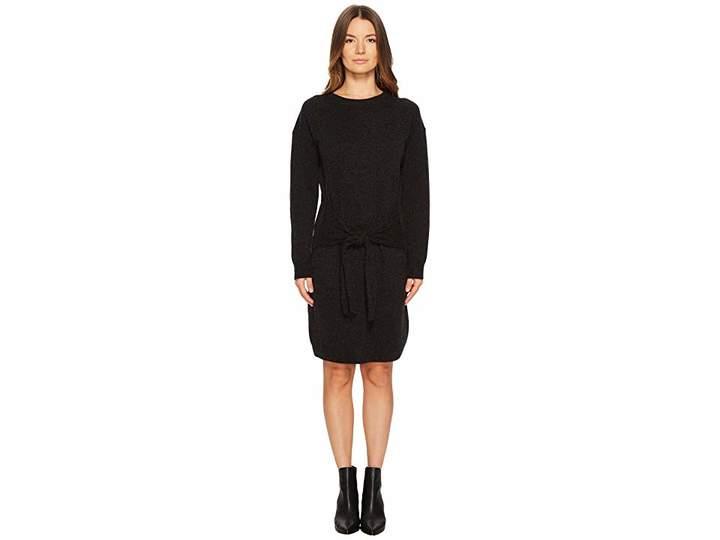 Vince Long Sleeve Tie Waist Dress Women's Dress
