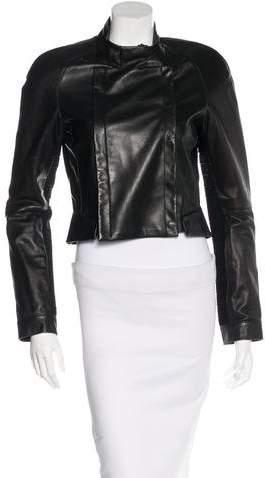 Herve Leger Aaliyah Leather Jacket