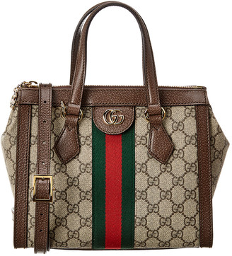 Gucci Ophidia Gg Supreme Small Canvas & Leather Shoulder Bag