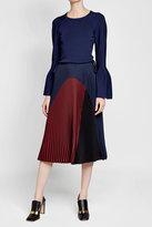 Agnona Pleated Silk Skirt