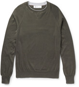 Brunello Cucinelli - Contrast-tipped Cotton Sweater