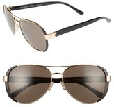 Tory Burch Women's 60Mm Sunglasses - Gold/ Black