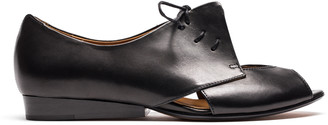 Tracey Neuls - PERRY Smoke | Black Leather Flat Shoe - 36