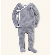 Ralph Lauren Baby Boys' Navy Striped 2-pc. Kimono Set