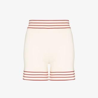 ODYSSEE Stripe trim knit shorts