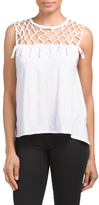 Knotted Hi Lo Muscle Tank