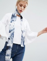 Asos Watercolour Skinny Scarf/Headscarf