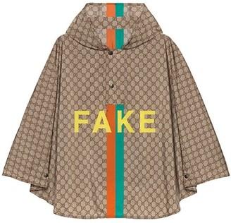 Gucci Fake/Not Print GG Nylon Cape