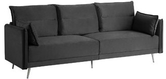 Pillager Mid Century Sofa Wrought Studio Upholstery Color: Dark Gray
