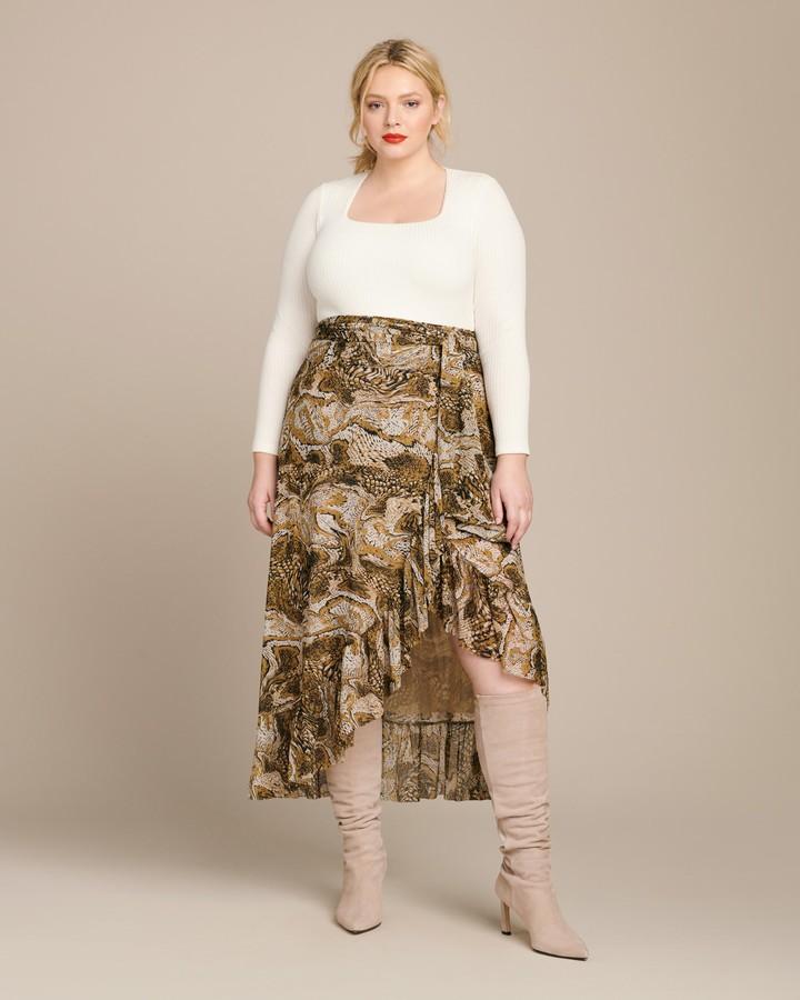 Ganni Printed Mesh Skirt