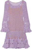 Michael Kors Crocheted cashmere-blend mini dress