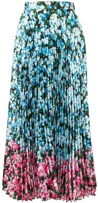 Mary Katrantzou Floral Print Pleated Skirt