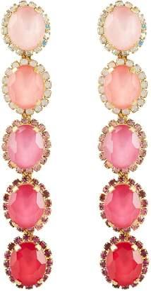 Elizabeth Cole Von Drop Crystal Earrings