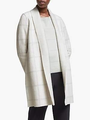 Eileen Fisher Shawl Collar Wool Cardigan, Bone/Pearl