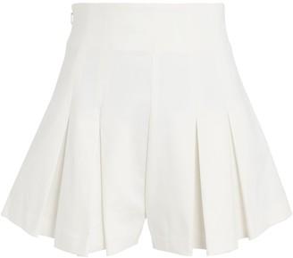 AMUR Apollo Pleated High-Rise Shorts