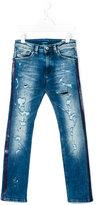 Diesel destroyed denim jeans - kids - Cotton/Polyester/Spandex/Elastane - 12 yrs