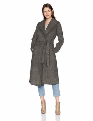 T Tahari Women's Elliot Long Double Face Wrap Coat