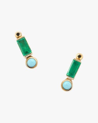 Anzie Cleo Baguette Stud Earrings