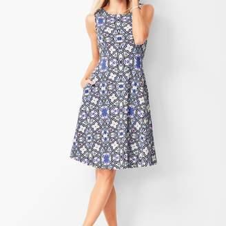 Talbots Edie Knit Fit & Flare Dress - Medallion