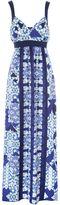 Jane Norman Blue Tile Maxi Dress