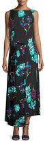 Diane von Furstenberg Sleeveless Floral-Printed Maxi Dress